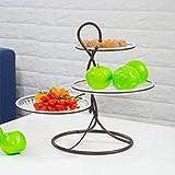 MEILI Piatto di frutta a tre strati soggiorno multi-strato piatto di frutta secca moderno minimalista creativo cesto di frutta spuntino dessert pentole , 7