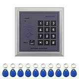 Bonega Einzelne Tür 125 KHz RFID ID Karte Zutrittskontrollsystem Eintrag Sicherheit Passwort Tastatur mit 10 stücke SchlüsselanhängerAH403