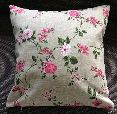 n Pink Roses, Frühling, Dekokissen, Landhaus-Stil ()