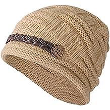 Vellette Gorros de punto Sombreros y gorras Crochet las mujeres del invierno  gorro de lana Tejer 363c7ae7f1a