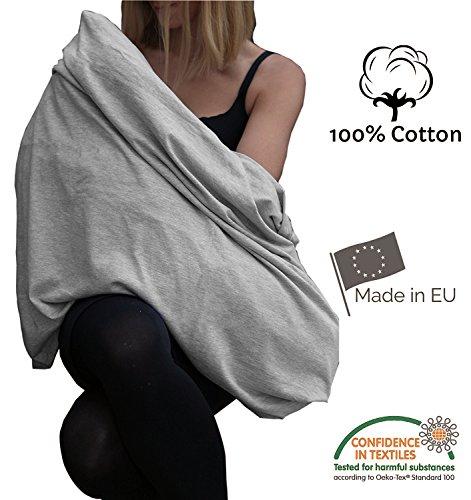 Stilltuch, endloser Schal zum Stillen aus 100 {5d7097d4620f99cd5c6c312d0ff3c44b5483f810bade0eb289ab39a35b6cb1b9} atmungsaktiver Bio-Baumwolle, hergestellt in Europa, hochwertiger Stoff