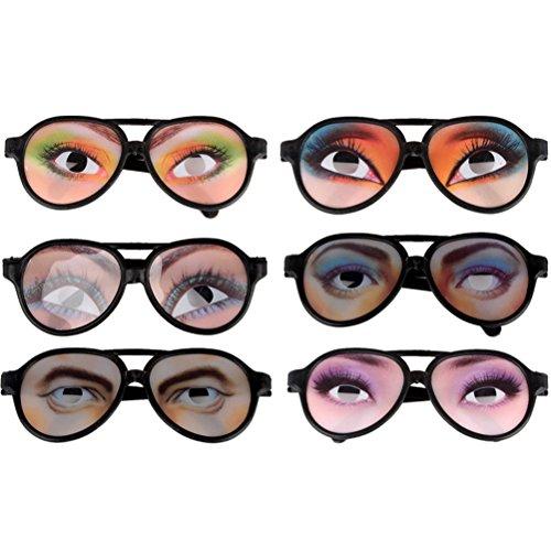 Toyvian 12 Stücke Party Sonnenbrille Witz Lustige Brille Männlich Weiblich Brillen für Party Streich Requisiten (Gelegentliche Stil)