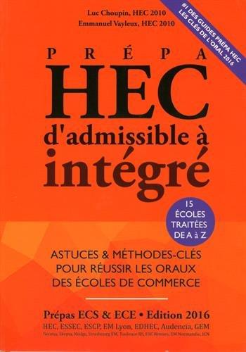 Prpa HEC, d'admissible  intgr
