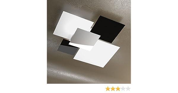 Plafoniere Cristallo E Acciaio : Plafoniera a soffitto grande cm lampadario design moderno skugga