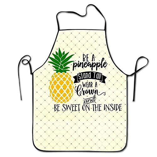 Ruajlt Be A Pineapple Adjustable Bib Apron Adult Home Kitchen Apron Chef Apron for Men And Women