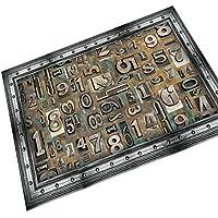 iJIAHOMIE Estera de Puerta, Soporte Antideslizante, Interior/Exterior,Nostálgico Retro, Letras Digitales, 45x70cm.