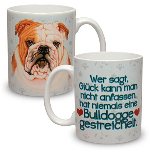 Kaffeebecher mit Motiv Hund Große XXL Tasse Englische Bulldogge