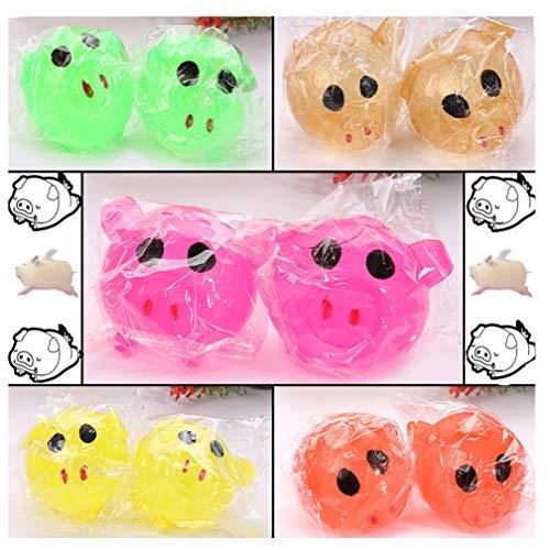 Schweine-Spaltball - Fatchot Anti-Stress, Kompression, Squeeze, Throw Against Wall, Fenster & Smiiley Face Magnet Schwein Spielzeug, Zufällig, 5 cm