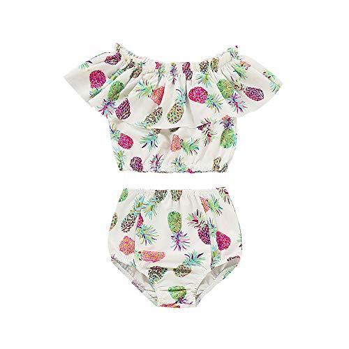 Kostüm 1 Million Dollar - Wang-RX Sommer Ananas Baby Mädchen Kinder Badebekleidung Bikini Set Floral Badeanzug Shorts Set Kostüm
