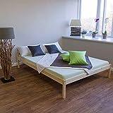 Holzbett Doppelbett 140x200 natur Massivholz
