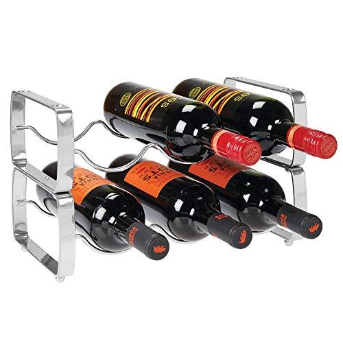 mDesign 2er-Set Flaschenregal - stapelbares Weinregal aus