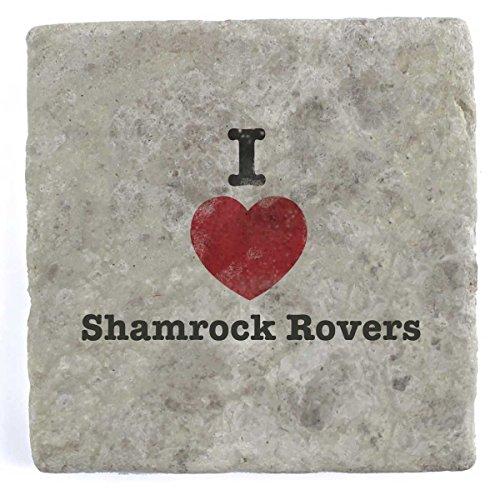 I love Shamrock Rovers–Marble Tile Drink Untersetzer (Shamrock Fußball)