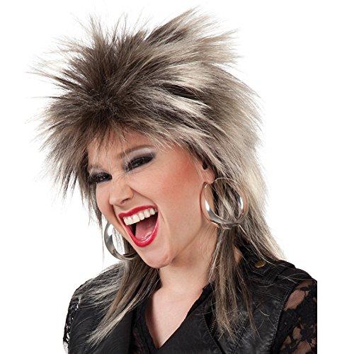 PARTY DISCOUNT NEU Perücke Rockstar Kimberly, braun-blond meliert -