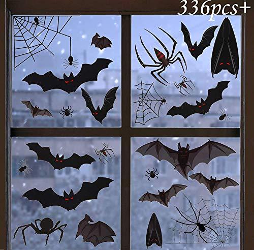 WATINC 12 Blatt Halloween Deko Fenster Aufkleber