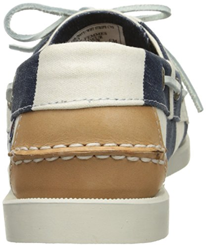 Sebago Spinnaker, Mocassins Navy/White Striped
