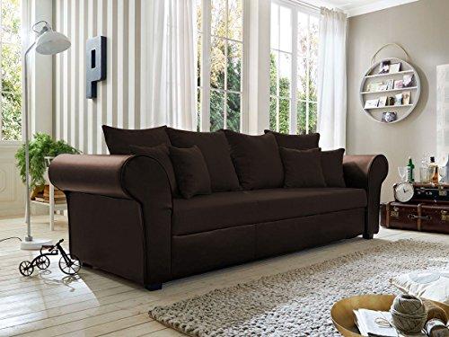 LESSY BIG Sofa, Microfaser braun