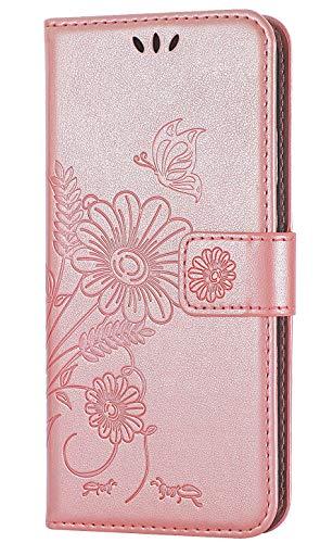 kazineer Galaxy S7 Hülle, Handyhülle Samsung S7 Leder Tasche Schutzhülle Brieftasche Etui für Samsung Galaxy S7 Case (Pink-Gold)