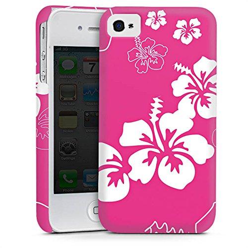 Apple iPhone 4 Housse Étui Silicone Coque Protection Fleur Fleur Fleur Cas Premium mat