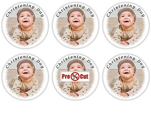 Goggly 35 x Pre Cut personalisiertes Foto / Ihr Logo Cupcake Toppers essbare Wafer Papier (Cupcake Toppers Hochzeit Essbare)