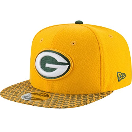 New Era - Green Bay Packers - 9fifty Snapback - Nfl 17 Onfield - Yellow - S-M (6 3/8 - 7 - Packers Era New Onfield