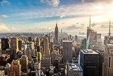 Fototapete 97044 New York Skyline Verschiedene Motivtapeten Postertapete Wall Mural USA Amerika New York City Lower Manhattan Brooklyn Bridge by Night Central Park Größe Bildtapete 350 X 260 CM In 7 Bahnen 50 X 260 CM Digitaldruck Inklusive Tapetenkleister