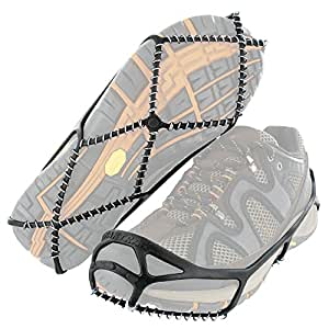 Lightweight and affordable slip-on traction cleats to reduce the risk of falls when walking on snow or ice to work, school, or even to the mailbox