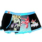 Marvel Boxershort 3-Super Helden Hulk Spiderman Superman Gr. XL, Mehrfarbig