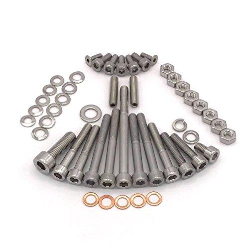 Simson Schwalbe Motor Schraubensatz für KR51/1 mit Fußschaltung Motor M53/1 KF Zylinderschrauben mit Innensechskant aus Edelstahl V2A, 48 teilig - 3 Gang Gebläse Motor