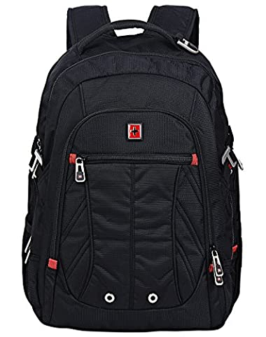 Swisswin Multifunktionsrucksack 15.6 zoll Rucksäcke Daypacks Notebookrucksack business Computer rucksack laptop Notebook für laptop kinder damen herren schwarz (Herren Rucksäcke)