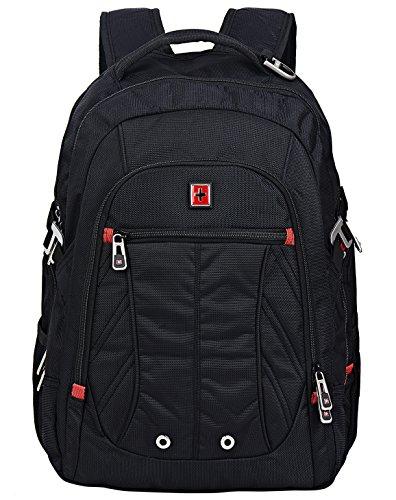Swisswin Multifunktionsrucksack 15.6 zoll Rucksäcke Daypacks Notebookrucksack business Computer rucksack laptop Notebook für laptop kinder damen herren schwarz (sw8110i) (Beste Laptop-rucksack)