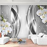 Fototapete Blumen Orchidee - Vlies Wand Tapete Wohnzimmer Schlafzimmer Büro Flur Dekoration Wandbilder XXL Moderne Wanddeko - 100% MADE IN GERMANY - 9320010c
