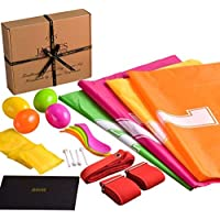 Sports Day Set - Sack Race - Full Game Package, Egg Race, Includes Running Bag, Egg and Spoon, 3 Paws Race, Bean Bag Race, Toss Bean Toss - London Jaques