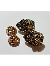 - Broche estilo réplicas de insignias de Juego de Tronos, color plateado o dorado, doble, Vintage, a la moda