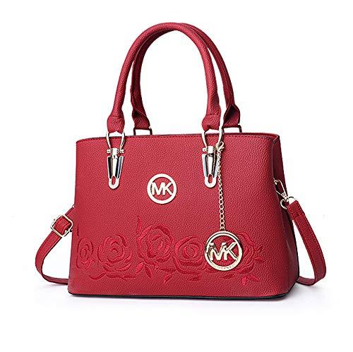 QBWZ 2018 neue Frauen-Handtasche Damen Casual Bag Messenger Bag Schulter,lycheered,31 * 14 * 20 * 15cm