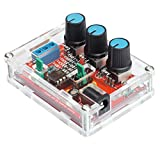 Function Generator - Kuman Updated DIY Kit Signal Generator with Screwdriver and Jumper Wires Cable - Sine Triangle Square Output 1Hz-1MHz Adjustable Frequency Amplitude