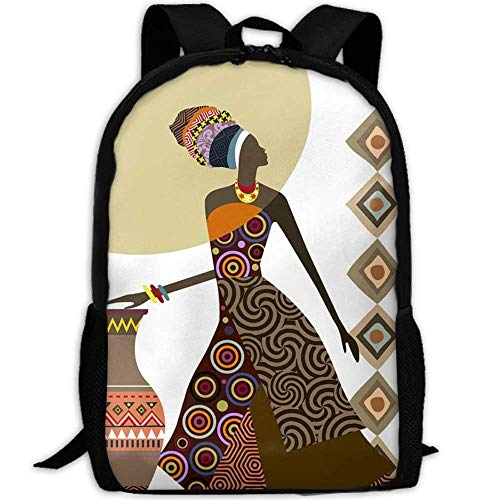 4f4b62e94d HOJJP Most Durable Lightweight Classic Backpack Casual Everyday Student  School Bookbag One Size - Afrocentric Art