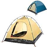 YUEBO 2 Personen Zelt, Wasserdicht Leicht Wurfzelt mit 3 Jahreszeiten für Outdoor-Aktivitäten Trekking, Camping(Blau)