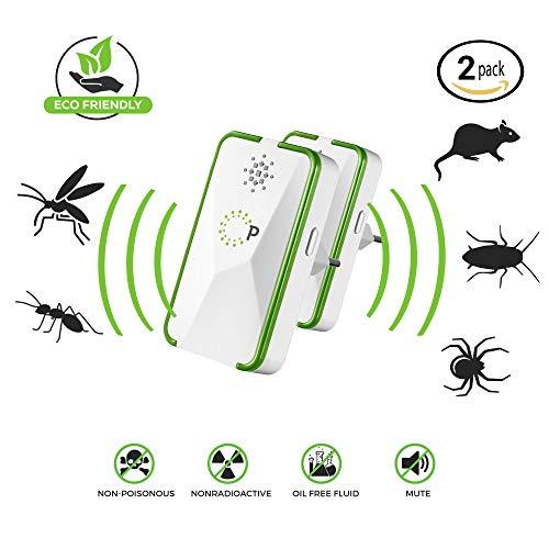 Schädlingsbekämpfer - Pest Control Repeller - ultraschall elektronisch Innenräume & im Freien - Mückenschutz Rattenabwehr Mäuseabwehr Insektenschutz Kakerlaken - Sicher für Menschen und Haustiere