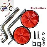 Stützräder für Kinderfahrrad Sicherheitsstützräder für 12 14 16 18 20 Zoll Kinderfahrrad Pusheng (Rot)