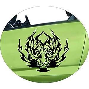 Autoaufkleber Flammentiger Tiger