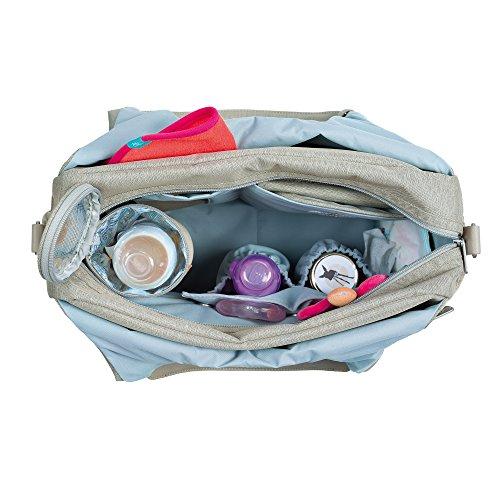 Lässig 1101003303 Wickeltasche Green Label Global Bag Ecoya, sand/beige - 2