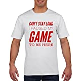 FunkyShirt Cant Stay Long Paused My Game Funny Gaming T Shirt Gamer Mens Boys All Sizes T-Shirt