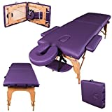 Massage Imperial® Charbury Purple 2-Section Portable Massage Table Couch Bed Spa
