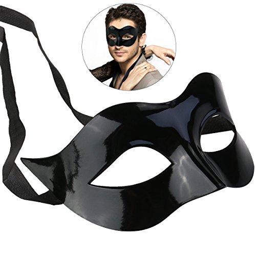 WINOMO Maskerade Kostüm Maske schwarz für Männer Frauen Party Ball Halloweenmaske (Kostüme Für Den Maskenball)