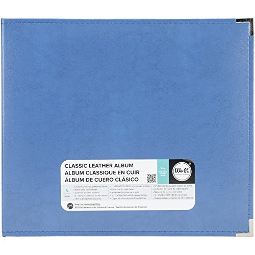 Memory Album Scrapbooking (We R Memory Keepers American Crafts 660914Classic D-Ring Scrapbooking Album, 12Zoll x 12Zoll, Country Blau)