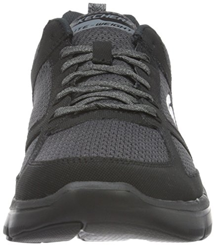 Skechers Flex Advantage 2.0, Baskets Basses Homme Noir (Bbk)