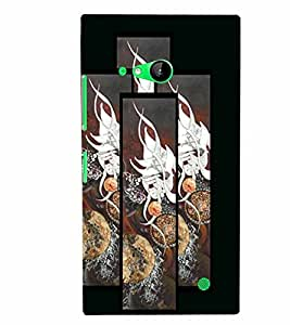 PrintVisa Modern Art 3D Hard Polycarbonate Designer Back Case Cover for Nokia Lumia 730