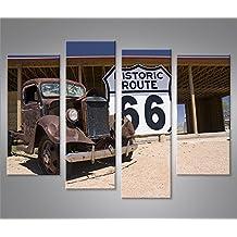 Imagen imágenes en lienzo Ruta 66Arizona Vintage Car 4XXL Póster Lienzo Cuadro de decoración salón Marca Islandburner