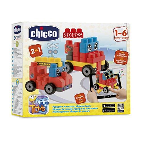 Chicco - 2307000000 - Boite de Construction - Véhicules De Secours - 20 Pièces