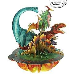 Idea Regalo - Biglietto Auguri - Dinosauri - Pirouettes Santoro - PS009